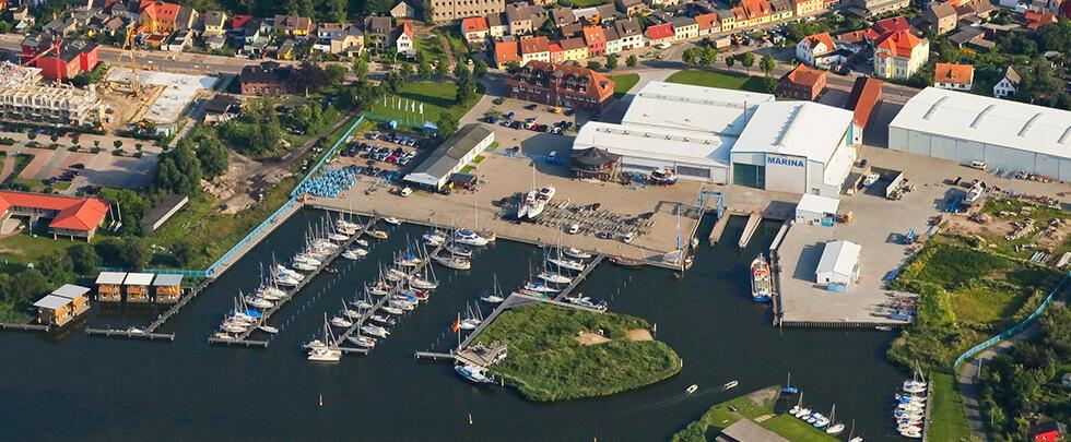 Barther Yacht Service Luftaufnahme